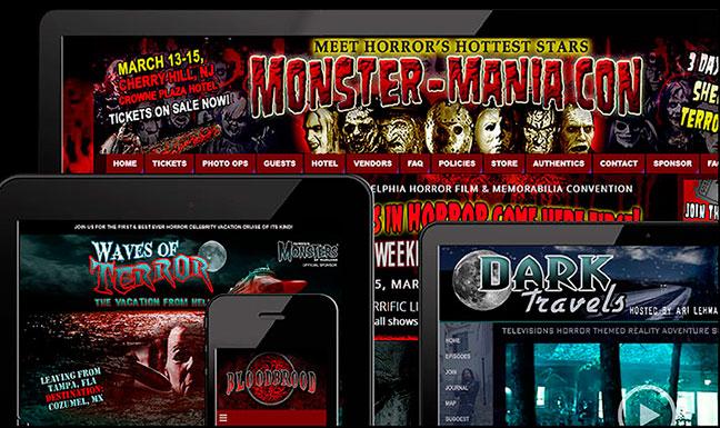 The images for Horror Metal Haunt website design 1